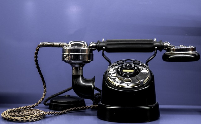 Old-fashioned rotary phone
